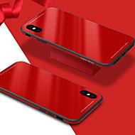 Недорогие Кейсы для iPhone 8 Plus-Кейс для Назначение Apple iPhone X iPhone 8 Защита от удара Зеркальная поверхность Кейс на заднюю панель Сплошной цвет Твердый Закаленное