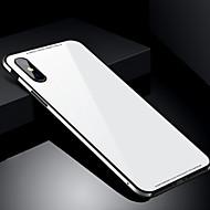 Недорогие Кейсы для iPhone 8-Кейс для Назначение Apple iPhone X iPhone 8 Защита от удара Кейс на заднюю панель Сплошной цвет Твердый Закаленное стекло для iPhone X