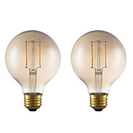 cheap LED Filament Bulbs-GMY® 2pcs 2W 180 lm E26 LED Filament Bulbs G25 2 leds COB Dimmable Decorative LED Light Warm White AC 110-130V