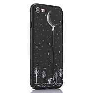 Недорогие Кейсы для iPhone 8 Plus-Кейс для Назначение Apple iPhone 8 iPhone 8 Plus Ультратонкий Матовое Рельефный С узором Задняя крышка Цвет неба Твердый PC для iPhone 8