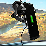 abordables Cargador Wireless-Cargador de Coche / Cargador Wireless Cargador usb USB Qi 1 Puerto USB 1 A DC 5V para iPhone 8 Plus / iPhone 8 / S8 Plus
