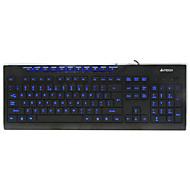 a4tech wk-300 bedraad membraan-toetsenbord usb 104 toetsen verlicht met 150 cm kabel