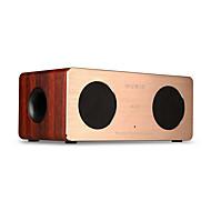 tanie Głośniki-W1 Głośnik Bluetooth Bluetooth 4.0 3,5 mm AUX Głośnik półkowy Brown Dark Red