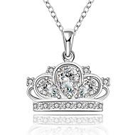 povoljno -Žene Crown Shape Klasik Slatko Ležerne prilike Lijep Ogrlice s privjeskom Kubični Zirconia Kamen Ogrlice s privjeskom , Vjenčanje