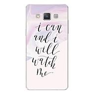 tanie Galaxy A8 Etui / Pokrowce-Kılıf Na Samsung Galaxy A7(2017) Wzór Etui na tył Napis Marmur Miękkie TPU na A3 (2017) A5 (2017) A7 (2017) A7(2016) A5(2016) A8