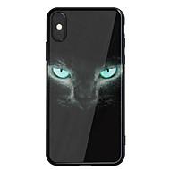Кейс для Назначение Apple iPhone X iPhone 8 Plus Зеркальная поверхность С узором Задняя крышка Кот Твердый Акриловое волокно для iPhone X