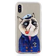 Кейс для Назначение Apple iPhone X iPhone 8 С узором Задняя крышка Кот Мягкий TPU для iPhone X iPhone 8 Pluss iPhone 8 iPhone 7 Plus