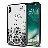 Недорогие Кейсы для iPhone 8 Plus-Кейс для Назначение Apple iPhone X iPhone 8 Plus С узором Кейс на заднюю панель Пейзаж одуванчик Мягкий ТПУ для iPhone X iPhone 8 Pluss