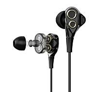 baratos -T8/T8S EARBUD Com Fio Fones Dinâmico Plástico Pro Audio Fone de ouvido Com Microfone Fone de ouvido