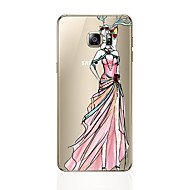 Недорогие Чехлы и кейсы для Galaxy S8 Plus-Кейс для Назначение SSamsung Galaxy S8 Plus S8 С узором Кейс на заднюю панель Соблазнительная девушка Мягкий ТПУ для S8 Plus S8 S7 edge