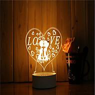 olcso LED éjszakai világítás-1 db 3d hangulat éjszakai fény kéz érzés dimmable usb powered ajándék lámpa romantikus szerelem