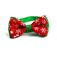 Cat Dog Collar Tie/Bow Tie Portable Foldable Adjustable Flexible Color Block Lolita Fabric Red
