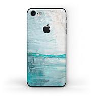 Недорогие Защитные пленки для iPhone-1 ед. Наклейки для Защита от царапин Матовое стекло Узор PVC iPhone 7