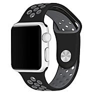 billiga Apple-tillbehör-Klockarmband för Apple Watch Series 3 / 2 / 1 Apple Sportband Silikon Handledsrem