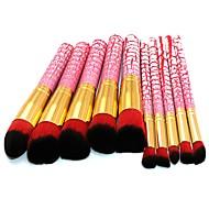 10 piezas Sistemas de cepillo Cepillo para Colorete Pincel para Sombra de Ojos Pincel para Labios Cepillo para Polvos Cepillo para Base