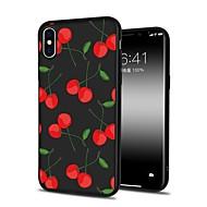 Недорогие Кейсы для iPhone 8-Кейс для Назначение Apple iPhone X iPhone 8 Plus С узором Кейс на заднюю панель Фрукты Мультипликация Мягкий ТПУ для iPhone X iPhone 8