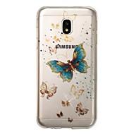 Недорогие Чехлы и кейсы для Galaxy J5(2017)-Кейс для Назначение SSamsung Galaxy J7 (2017) J5 (2017) IMD С узором Кейс на заднюю панель Бабочка Сияние и блеск Мягкий ТПУ для J7