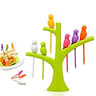 voordelige -Muovi Schattig Plantaardige vork Fruitvork, Hoge kwaliteit 6pcs
