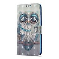 Недорогие Чехлы и кейсы для Galaxy А-Кейс для Назначение SSamsung Galaxy A8 2018 A8 Plus 2018 Бумажник для карт со стендом Флип С узором Чехол Сова Твердый Кожа PU для A8+