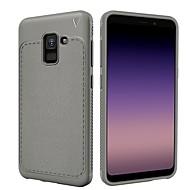 Недорогие Чехлы и кейсы для Galaxy А-Кейс для Назначение SSamsung Galaxy A8 2018 A8 Plus 2018 Защита от удара Матовое Кейс на заднюю панель Сплошной цвет Мягкий ТПУ для A8+
