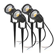 billige LED-projektører-4stk 4.5W LED-projektører / Lawn Lights Nyt Design / Vandtæt / Dekorativ Varm hvid / Kold hvid / Rød 85-265V / 12V Udendørsbelysning /