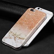Недорогие Кейсы для iPhone 8 Plus-Кейс для Назначение Apple iPhone X / iPhone 8 IMD Кейс на заднюю панель Мрамор Мягкий ТПУ для iPhone X / iPhone 8 Pluss / iPhone 8