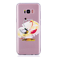 Недорогие Чехлы и кейсы для Galaxy S7 Edge-Кейс для Назначение SSamsung Galaxy S8 Plus S8 IMD Прозрачный С узором Кейс на заднюю панель Фламинго Мягкий ТПУ для S8 Plus S8 S7 edge