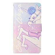 billiga iPhone 8 Plus och Plus-fodral-fodral Till Apple iPhone X iPhone 8 Plus Korthållare Plånbok med stativ Lucka Magnet Fodral Enhörnings Hårt PU läder för iPhone X iPhone