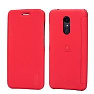 お買い得  -ケース 用途 Xiaomi Redmi 5 Redmi 5 Plus Redmi Note 5A カードホルダー 耐衝撃 フリップ つや消し 純色 ハード のために