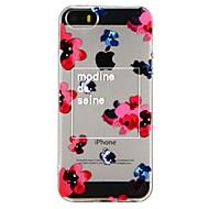 Недорогие Кейсы для iPhone 8-Кейс для Назначение Apple iPhone 6 iPhone 7 Полупрозрачный С узором Рельефный Кейс на заднюю панель Цветы Мягкий ТПУ для iPhone X iPhone
