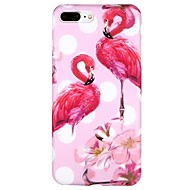 Case For Apple iPhone 7 iPhone 6 IMD Pattern Back Cover Flamingo Geometric Pattern Cartoon Soft TPU for iPhone X iPhone 8 Plus iPhone 8