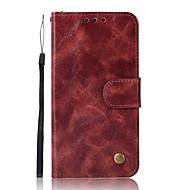 お買い得  携帯電話ケース-ケース 用途 Xiaomi Redmi Note 5A カードホルダー ウォレット スタンド付き フリップ フルボディーケース 純色 ハード PUレザー のために Xiaomi Redmi Note 4X Xiaomi Redmi Note 4 Redmi 5A