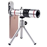 billige Mobiltelefonlinse-mobiltelefon linsen lang brændvidde 18x makro 35 3 70 linse med stativ