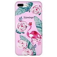 Недорогие Кейсы для iPhone 8-Кейс для Назначение Apple iPhone 6 iPhone 7 IMD С узором Кейс на заднюю панель Фламинго Цветы Мультипликация Мягкий ТПУ для iPhone X