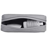 お買い得  MacBook 用ケース/バッグ/スリーブ-アクセサリー収納バッグ ソリッドカラー 純色 PUレザー のために 電源 / フラッシュドライブ / ハードドライブ