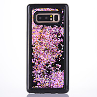 Недорогие Чехлы и кейсы для Galaxy Note 8-Кейс для Назначение SSamsung Galaxy Note 8 Движущаяся жидкость Прозрачный Кейс на заднюю панель Прозрачный Сияние и блеск Мягкий ТПУ для