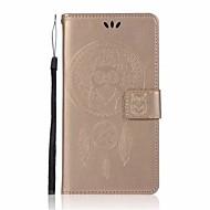 olcso Mobiltelefon tokok-Case Kompatibilitás Xiaomi Redmi Note 4X Redmi 4X Pénztárca Kártyatartó Állvánnyal Flip Minta Teljes védelem Bagoly Álomfogó Kemény Műbőr