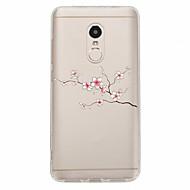 Недорогие Чехлы для телефонов-Кейс для Назначение Xiaomi Redmi Note 4X Redmi Note 4 С узором Кейс на заднюю панель Цветы Мягкий ТПУ для Xiaomi Redmi Note 4X Xiaomi