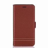 voordelige Mobiele telefoonhoesjes-hoesje Voor LG K8 (2017) K10 (2017) Kaarthouder Portemonnee met standaard Flip Volledig hoesje Effen Kleur Hard PU-nahka voor LG X Power