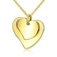 povoljno -Žene Geometric Shape Ležerne prilike Srce slatko Lijep Ogrlice s privjeskom , Legura Ogrlice s privjeskom , Vjenčanje