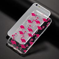 Недорогие Кейсы для iPhone 8-Кейс для Назначение Apple iPhone X iPhone 8 Кейс для iPhone 5 iPhone 6 iPhone 7 С узором Кейс на заднюю панель Фламинго Мягкий ТПУ для