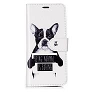 Недорогие Чехлы и кейсы для Galaxy S8 Plus-Кейс для Назначение SSamsung Galaxy S8 Plus S8 Бумажник для карт Кошелек Флип Магнитный С узором Чехол С собакой Слова / выражения Твердый