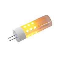 abordables Bulbos de decoración-BRELONG® 1pc 3W 230lm G4 Bombillas LED de Mazorca 36 Cuentas LED SMD 2835 Efecto llama Blanco Cálido 12V