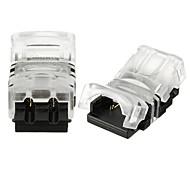 abordables Accesorios para Tiras LED-ZDM® 2pcs Accesorio de luz de tira Conector eléctrico El plastico