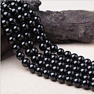 お買い得  -DIYジュエリー 38 個 ビーズ クリスタル ブラック 円形 ビーズ 1 cm DIY ネックレス ブレスレット
