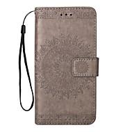 Недорогие Чехлы и кейсы для Galaxy Note-Кейс для Назначение SSamsung Galaxy Note 8 Note 5 Бумажник для карт Кошелек со стендом Флип Рельефный Сплошной цвет Твердый Кожа PU для