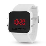 abordables Offres Quotidiennes-yy l8008 miroir jelly bracelet électronique smartwatch mâle femelle casual étudiant enfant automatique horloge numérique