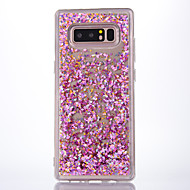 Недорогие Чехлы и кейсы для Galaxy Note-Кейс для Назначение SSamsung Galaxy Note 8 Движущаяся жидкость Прозрачный Кейс на заднюю панель Прозрачный Сияние и блеск Мягкий ТПУ для