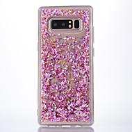 abordables Galaxy Note 8 Carcasas / Fundas-Funda Para Samsung Galaxy Nota 8 Líquido Transparente Funda Trasera Transparente Brillante Suave TPU para Note 8