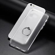 Hülle Für Apple iPhone 6 iPhone 7 Plus iPhone 7 Ring - Haltevorrichtung Transparent Rückseite Volltonfarbe Weich TPU für iPhone 8 Plus